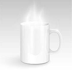 Realistic mug, vector illustration