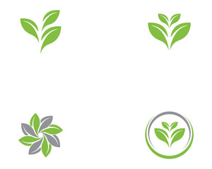 Ecology vector icon logo and symbol  template