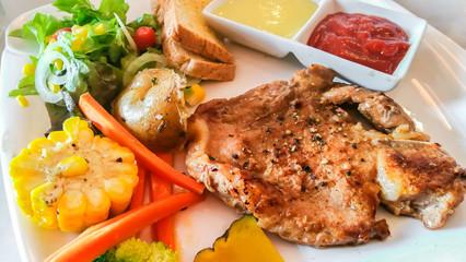 Steak, Meat, Dinner, Rare, Barbecue