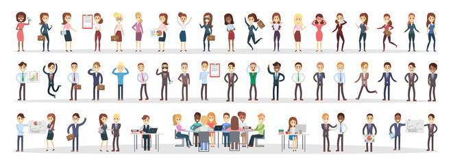 Business people set. Wall mural