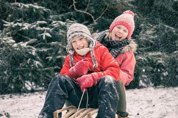 winter fun, Winter, snow, family