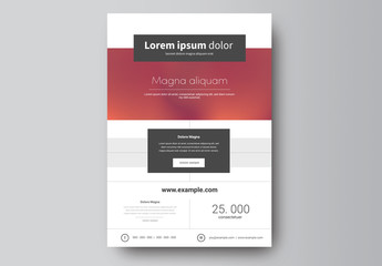 Business Flyer Layout with Pink Gradient Background 2