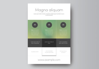 Business Flyer Layout with Green Gradient Header 1