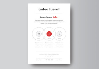 Business Flyer Layout with Circle Elements 1