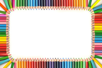Frame made out of color pencils