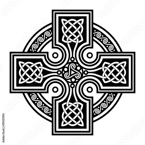 Celtic Cross Symbol Of Celtic Christianity Stock Image And Royalty