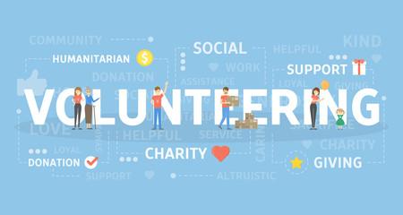 Volunteering concept illustration.