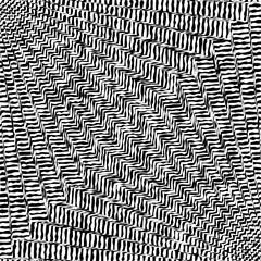 Wavy grunge zigzag distorted lines pattern. Vector