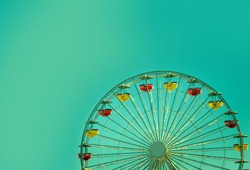 Ferris Wheel Over Sky background
