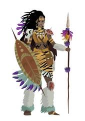 african huntress warrior
