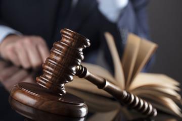 Judges gavel. Law concept.
