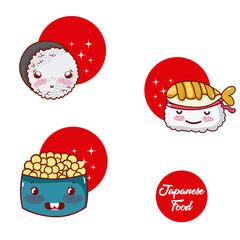 Japense food cartoons