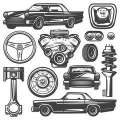 Vintage Car Components Collection