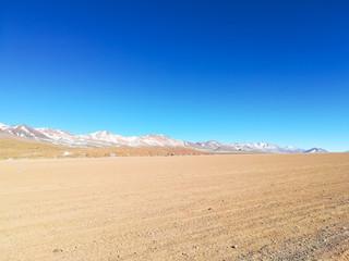 Bolivian landscape,Bolivia. Dirt road view