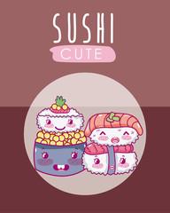 Cute japanese food kawaii cartoon