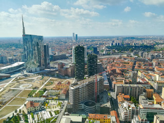 Photo sur Plexiglas Milan Milan aerial view. Milano city, Italy