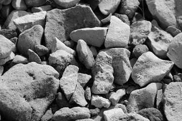 Pebbles and stones 10 _ B&W