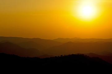 Sonnenuntergang über der Extremadura / Spanien - Sunset in Spain