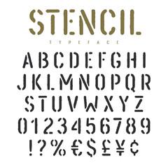 Stencil font 003