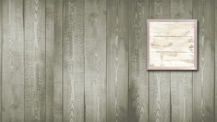 Quadro su parete in legno