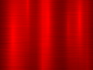Fototapete - Red metal abstract technology background with polished, brushed texture, chrome, silver, steel for design concepts, wallpapers, web, and prints. Vector illustration.