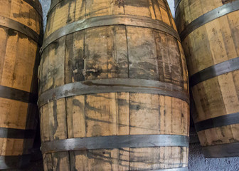 Used Bourbon Barrels