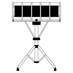 Isolated drum icon. Musical instrument
