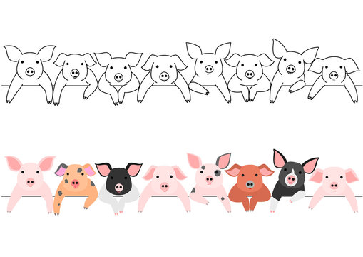 little pigs border set