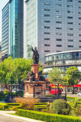 the Christopher Columbus statue, Mexico City