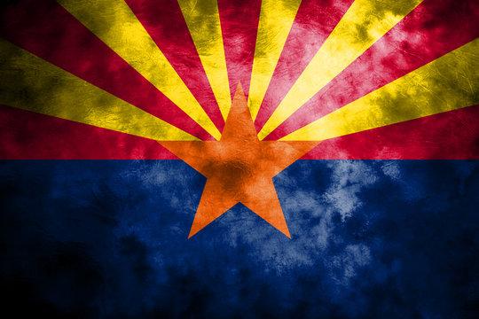 Arizona state grunge flag, United States of America