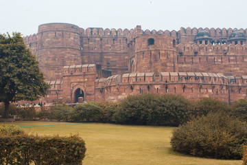 Agra Fort from the outside India