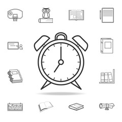 alarm clock icon. Detailed set of education outline icons. Premium quality graphic design. One of the collection icons for websites, web design, mobile app