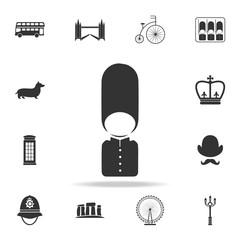 The London Guard icon. Detailed set of United Kingdom culture icons. Premium quality graphic design. One of the collection icons for websites, web design, mobile app