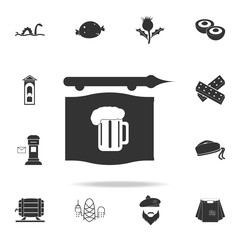 beer sign icon. Detailed set of United Kingdom culture icons. Premium quality graphic design. One of the collection icons for websites, web design, mobile app