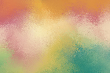 pretty grunge textured background in soft colors of pink gold orange blue green and burgundy pink