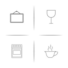 Home Appliances And Equipment simple linear icon set.Simple outline icons