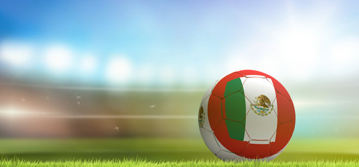 Mexico soccer football ball 3d rendering