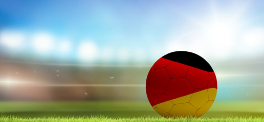 Germany soccer football ball 3d rendering