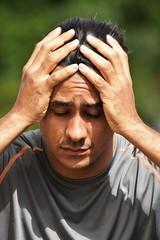 Male Athlete Under Stress