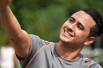 Athletic Man Selfie