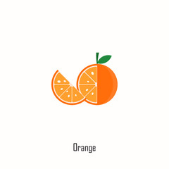 Orange Vector Template Design