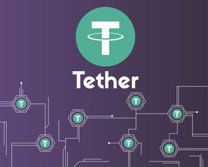 Tether cryptocurrency circuit theme background style