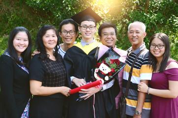 Asian graduation.Education concept.