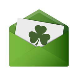 Open Envelope - Shamrock