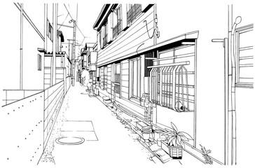 漫画風ペン画イラスト 和風(室内)