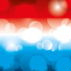 blurred bokeh of american flag