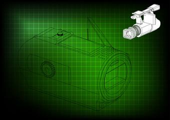 Camera on green