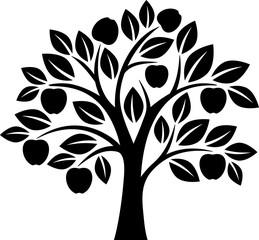 Vector apple tree