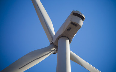 detail of wind turbine for the environment protection
