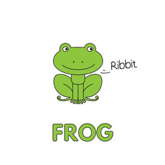 Cartoon Frog Flashcard for Children
